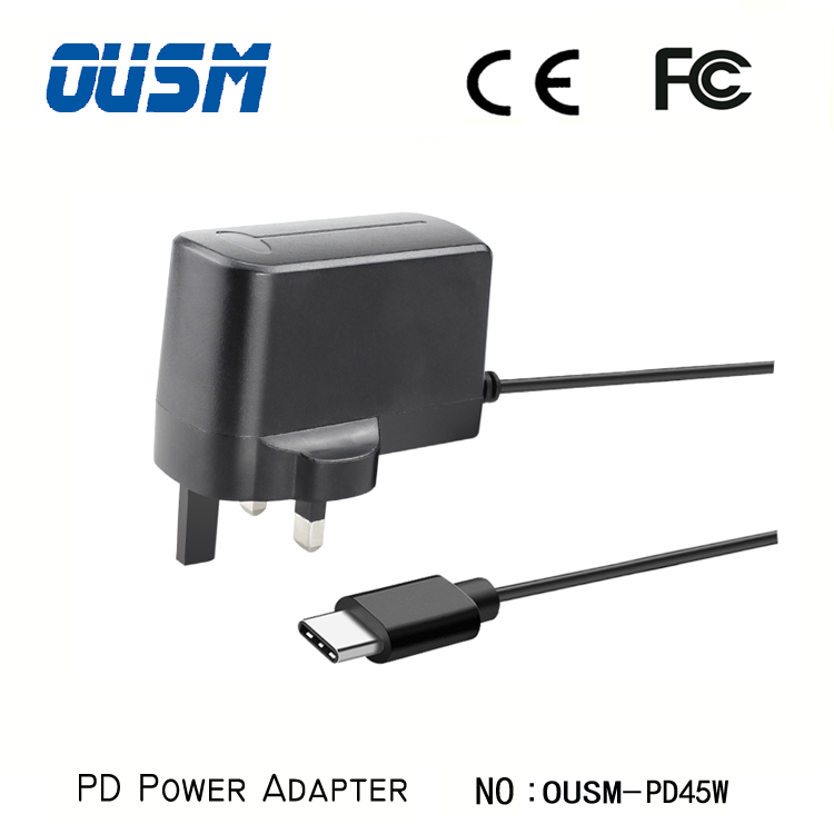 Wall mount Pd Charger 45W Type C Power adapter for Switch Game Console & Handle