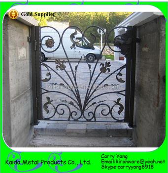 Factory Price Wrought Iron Simple Decorative Metal Garden Gates