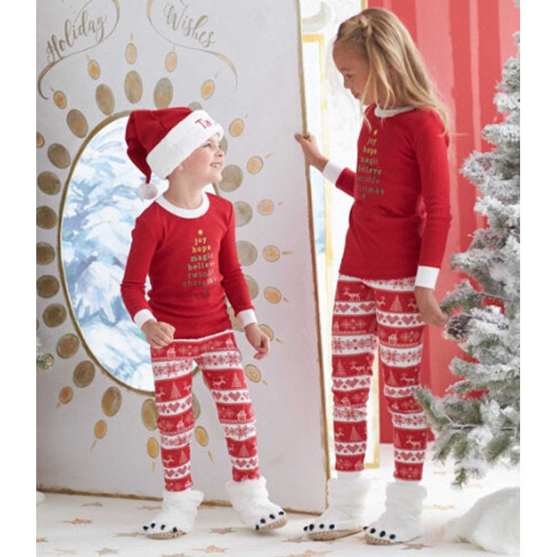 f8854322b522 Sev.wen Christmas Pajamas Family Fashion Baby Boys Girls Kids Long ...