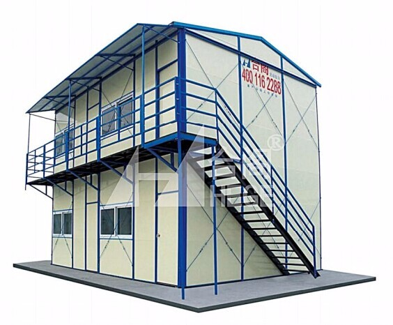 China cheap temporary double slope modular prefab houses