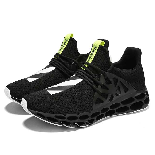 (High) 저 (Quality 망 Sport Running Shoes Mesh Fly 숨 캐주얼 Sneaker Discount 도매 와 홀 Blade TPU 솔 Design