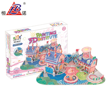 Hot sales educational toys 3d house make your own picture puzzle