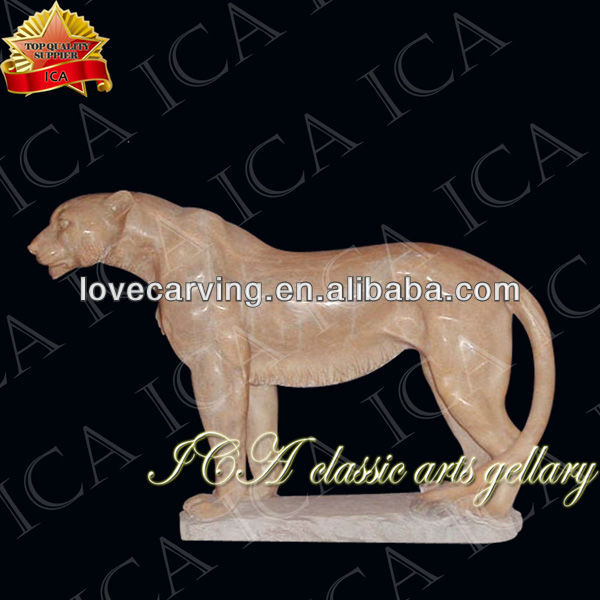 Handcarved natural stone tiger statue