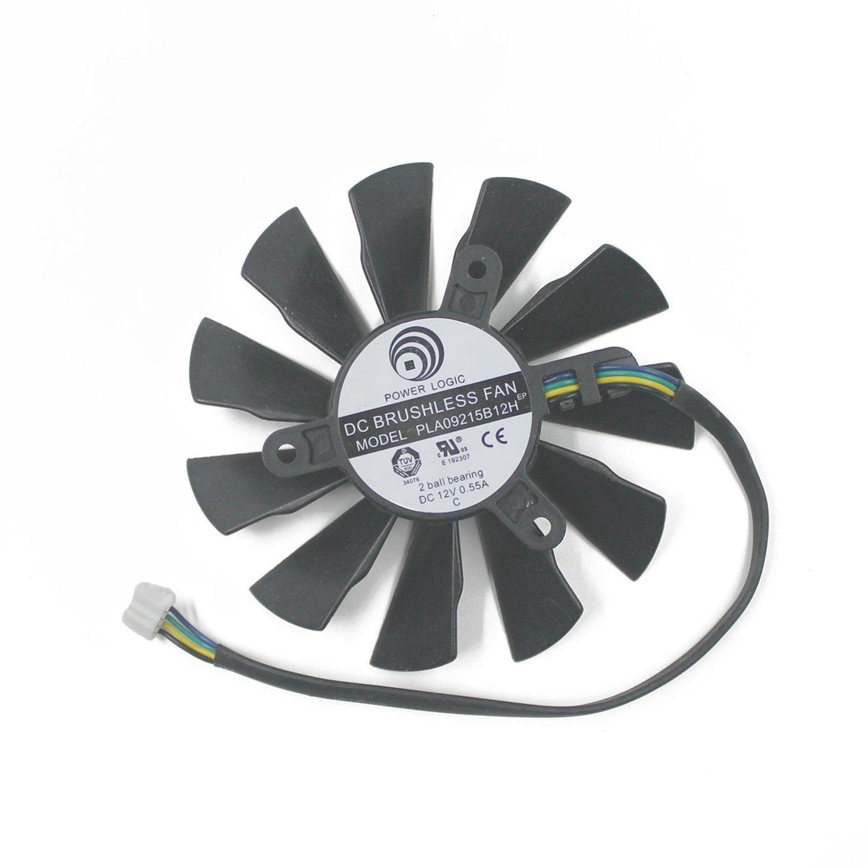 PLA09215B12H DC Graphics Card Fan 12V 0.55A 87mm For MSI N560 570 580GTX HD6870 87mm Cooling Fan Cooler