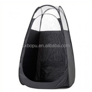 190T waterproof portable pop up spray tanning tent with custom logo for outdoor changing room