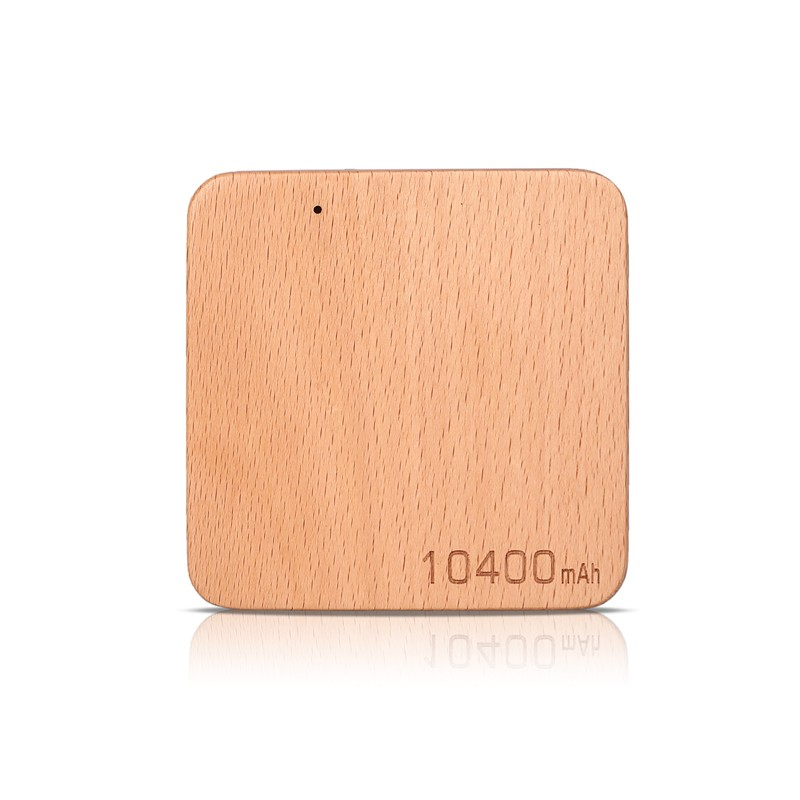 Factory price 10400mah customized service wooden power bank