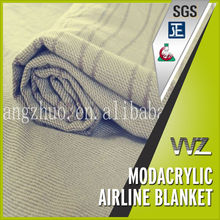 High quality modacrylic flame retardant airline blankets Airline blanket fire retardant Business class blanket airlines