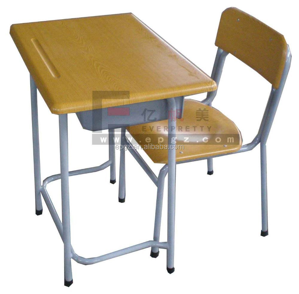 school and chair furniture moulded board student desk, View moulded board  desk, EVERPRETTY Product Details from Guangzhou Everpretty Furniture Co.,