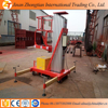 Height 8m CE ISO BV TU single person lift,aluminium ladder portable man lift , Repair Clean lift platform table home lift