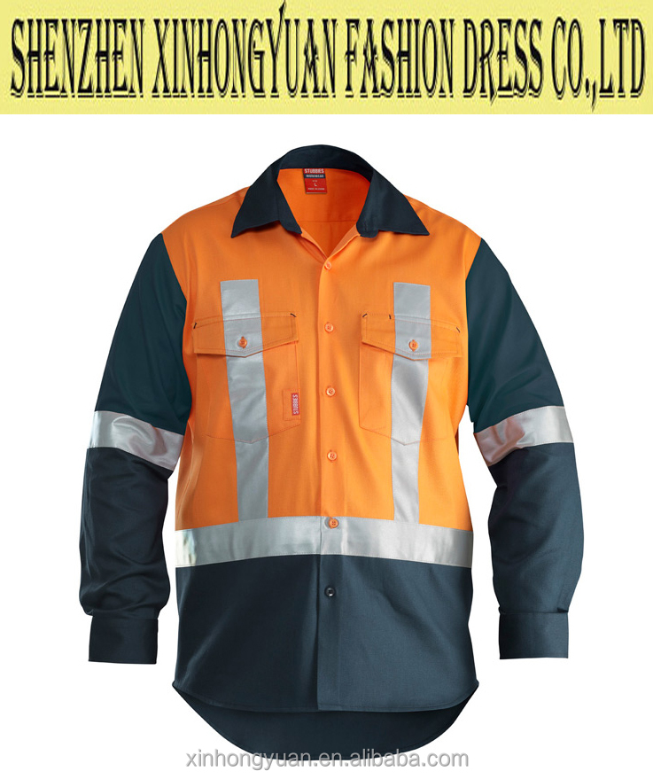 Waterproof Reflective paramedic safety shirt, hi vi jacket for technician, safety guard