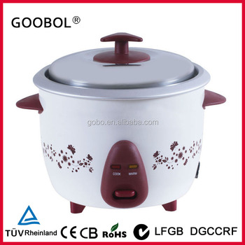 Small Size Rice Cooker With Flower Painting Housing Can