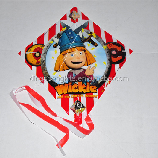 manufacturer PE material kite diamond plastic kite for advertisement
