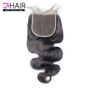 Free sample promotion 5X5 body wave cuticle aligned 100% virgin raw mink brazilian hair bundles with lace front closure
