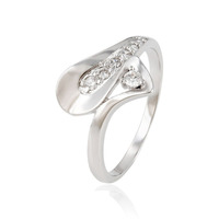 13861 fashion jewelry for women diamond 925 sterling silver color white stone ring