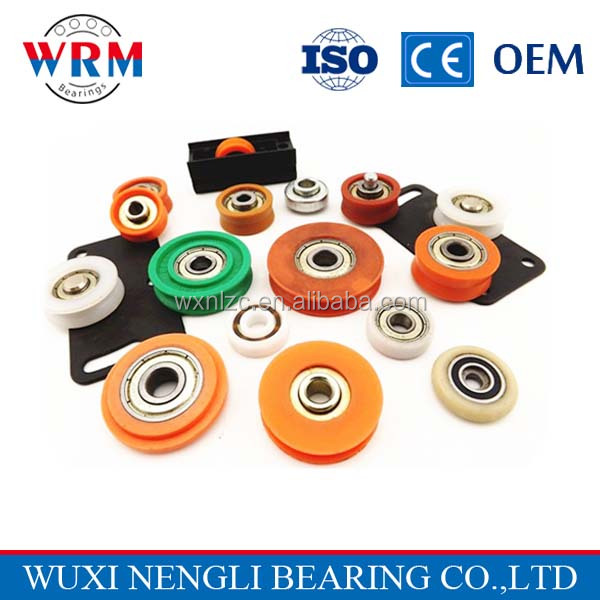 Resistance to high temperature corrosion CSB-EPB,POM,PP, PTFE plastic bearing plastic wheel with bearing,Plastic