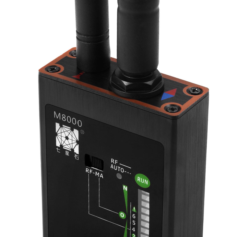 Popular Security Device IR Laser Spy Camera Scanner X+RF Signal Detector Bug Spy GPS Tracker Finder with Dual Antennas M8000