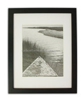 Sunbow Art 11x14 Photo Wood Frame with Mat for 8x10 Picture BLACK
