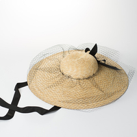 Wholesale Fashion Ladies Extra Wide Brim Hats Natural Straw Sun Hat Oversize Floppy for Women Floppy Straw Chapeau