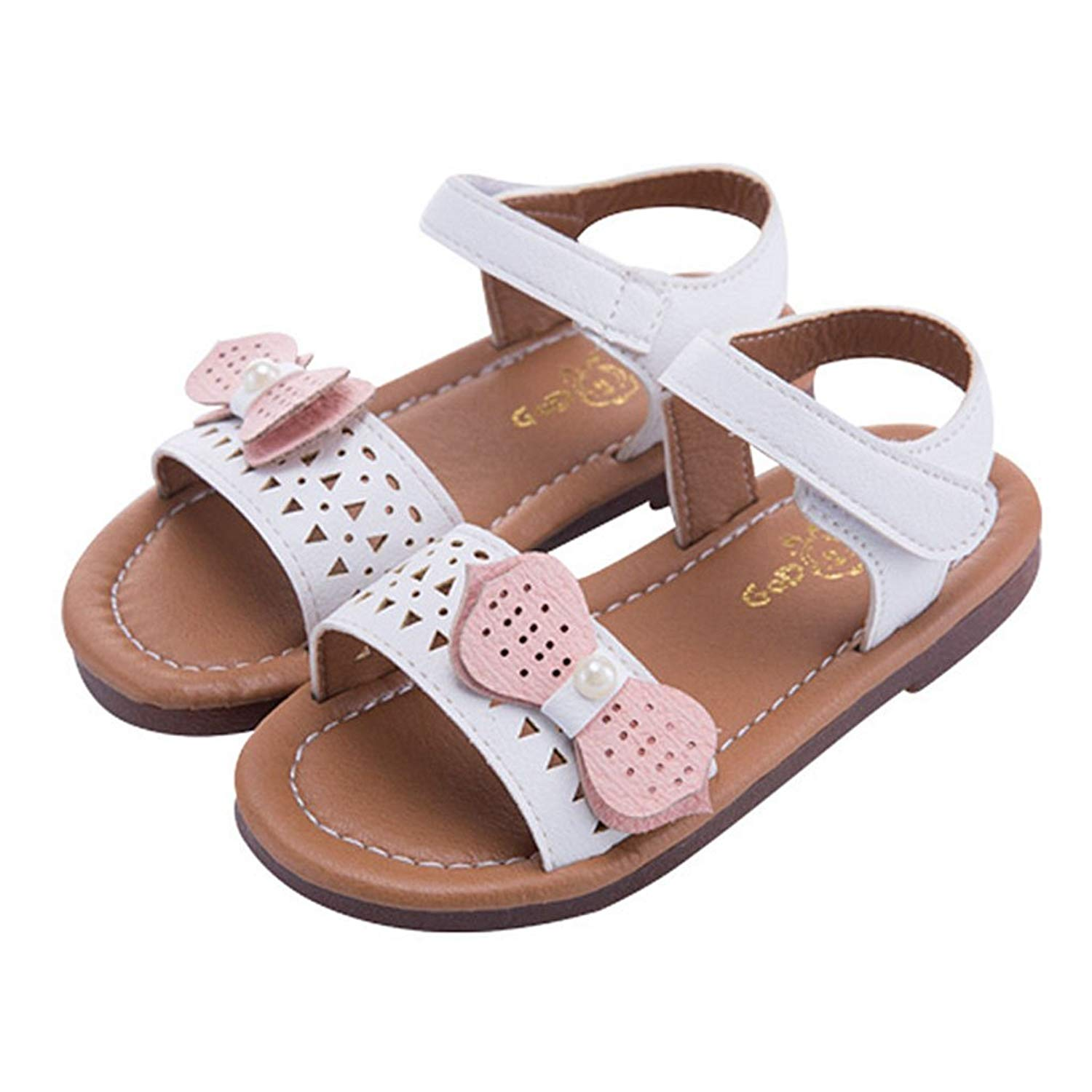 Girl's Bowknot Open Toe Flat Sandals Summer Outdoor Beach Non-Slip Athletic Sandals Hot Water Shoes