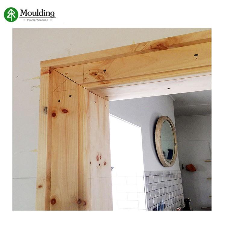 low price wood door jamb for interior decorative wood moulding