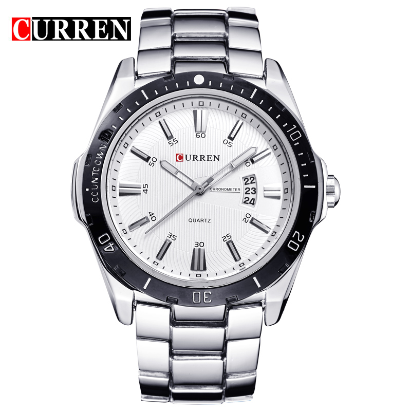 Curren Watches Men Japan Movement Stainless Steel Strap Men's <strong>Date</strong> Displaying Military Army Watches 8110 Quartz Analog Watch