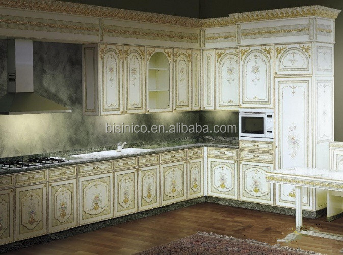 Vitoria Style Wooden Kitchen Cabinet With Drawing,Hand Carved ...