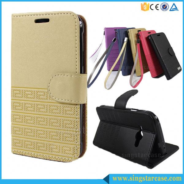 Wholesale Wallet Design Card Slots Flip Leather Case Cover For ZTE Blade V580