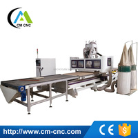 CM-1325 Auto Loading And Unloading Nested Based Fabrication Cabinet Woodworking CNC Router Machine