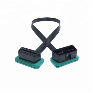Low Profile Flat Ribbon Male to Female 24V OBD2 Extension Cable