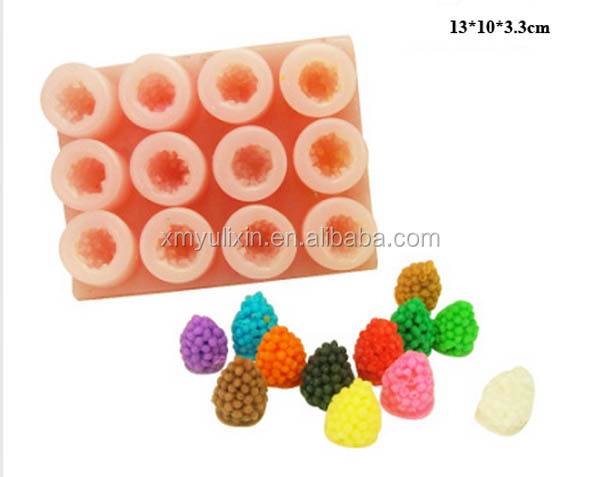 3D mulberry design silicone mold soap