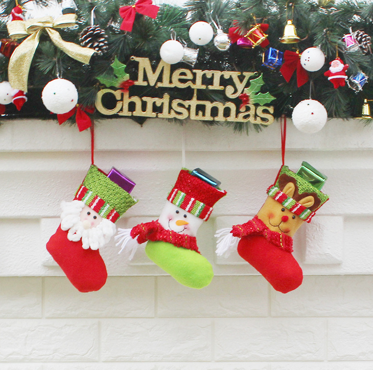 Wholesale Christmas Ornament colorful various patterns for christmas stockings