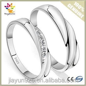 2015 Fashion Wedding Jewelry Wholesale 925 Sterling Silver Simple