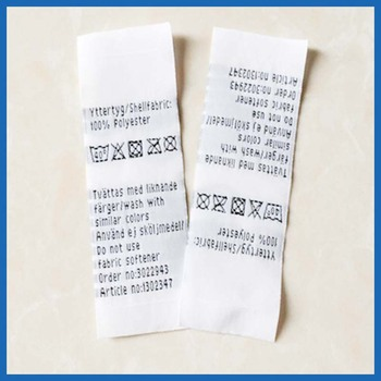 Woven Washing Instruction Labels For Clothes Buy Washing