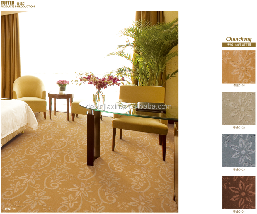 China corridor carpet for luxury five star hotel