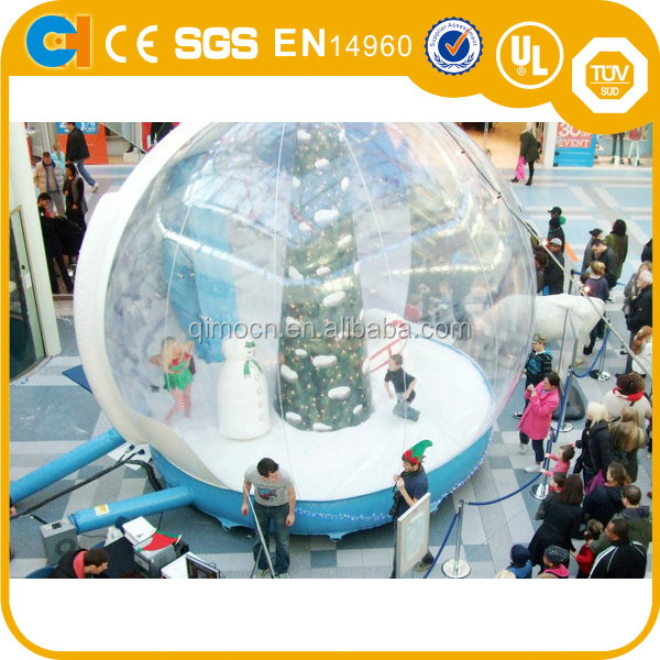 Hot Selling Giant Inflatable Snow Globe ,Outdoor Christmas Photo Snow Globe