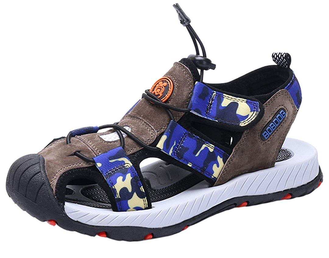 901063cc01cf81 Get Quotations · iDuoDuo Boys Fashion Totem Closed Toe Sports Sandals Cool  Walking Sandal (Toddler Little Kid