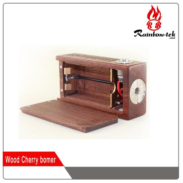 brass contact pin spring switch vape ecig 18650 cherry bomber box mod vs wood cherry bomber. Black Bedroom Furniture Sets. Home Design Ideas