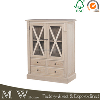 2 door 4 drawers sideboard, solid oak wood cabinet, oak furniture antique