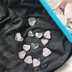 natural clear and rose rock quartz crystal tender hearts gifts,hearts shaped rocks,crystal gift items