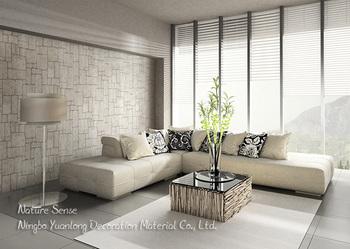 53CM Nature Sense Vinyl 3d Wallpaper House Decoration Wall Paper Stone Brick