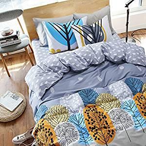 Evening Gray Bedding Kids Bedding Teen Bedding Dorm Bedding Gift Idea, Full Size