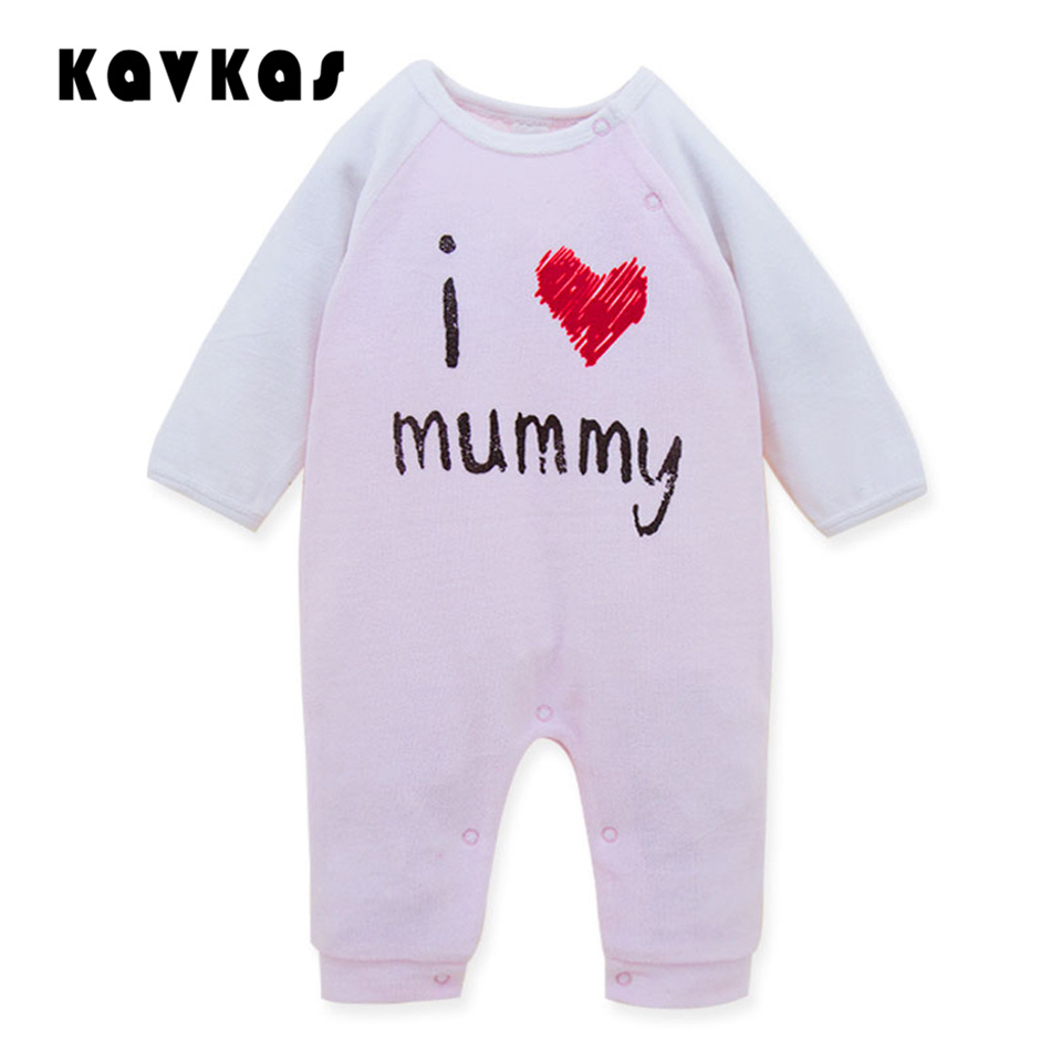 Infant Baby Clothes Long Sleeve Baby Romper I Love MAMA/PAPA