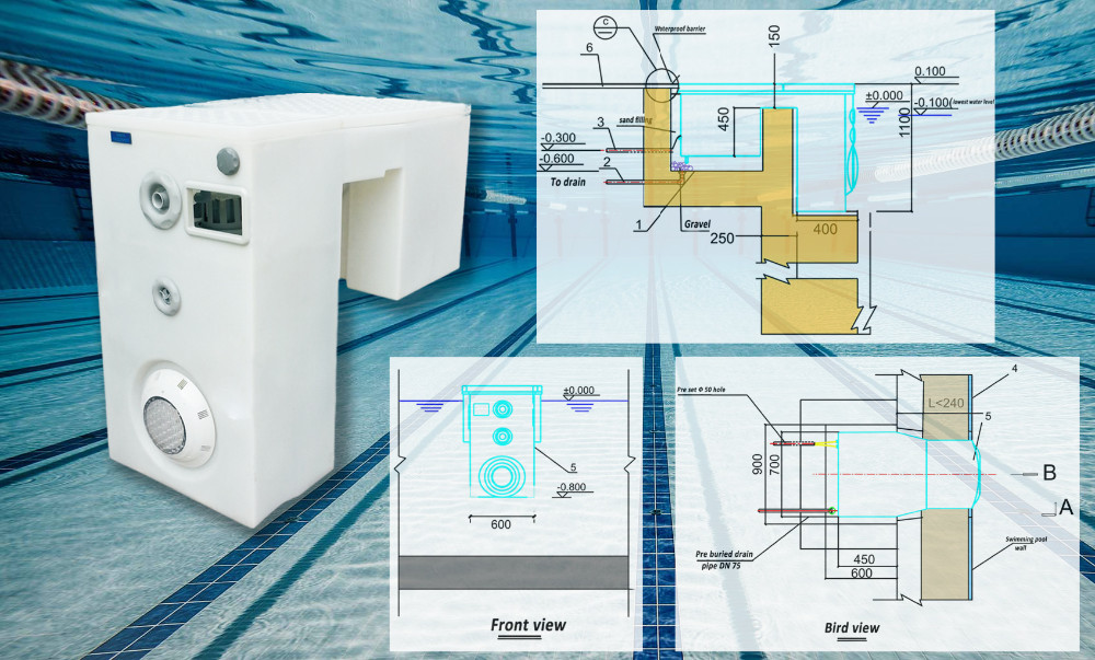 FUSSEN Swimming Pool Wall Hung Pipeless Filter Manufacturer in Guangzhou China