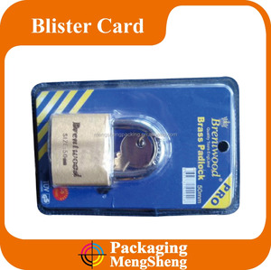 Custom Hanging Blister PVC Packaging Box with Printing Card