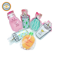 YWLA090 RDT Home Hot Water Injection Storage Bag Clear Cartoon Juice Bear Shape Girl Portable Hand Warmer Water Bag Bottle Pad