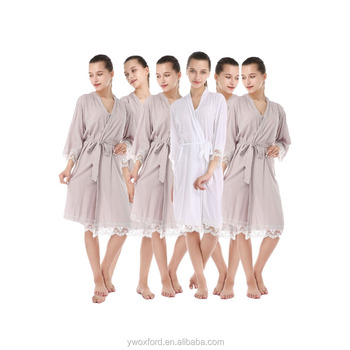 Best Seller Wedding Robe Bridesmaids Dressing Gown Women\'s Cotton ...