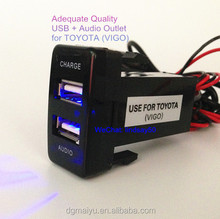 Toyota USB Audio and Charger Port for Prado 120 Hilux LC100 FJ Cruiser 79 series