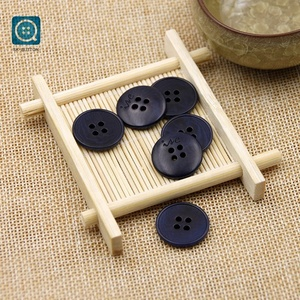 2018 Navy Blue 32L 4 Holes Fine Edges Eco-Friendly Smooth Real Corozo Buttons for Clothing