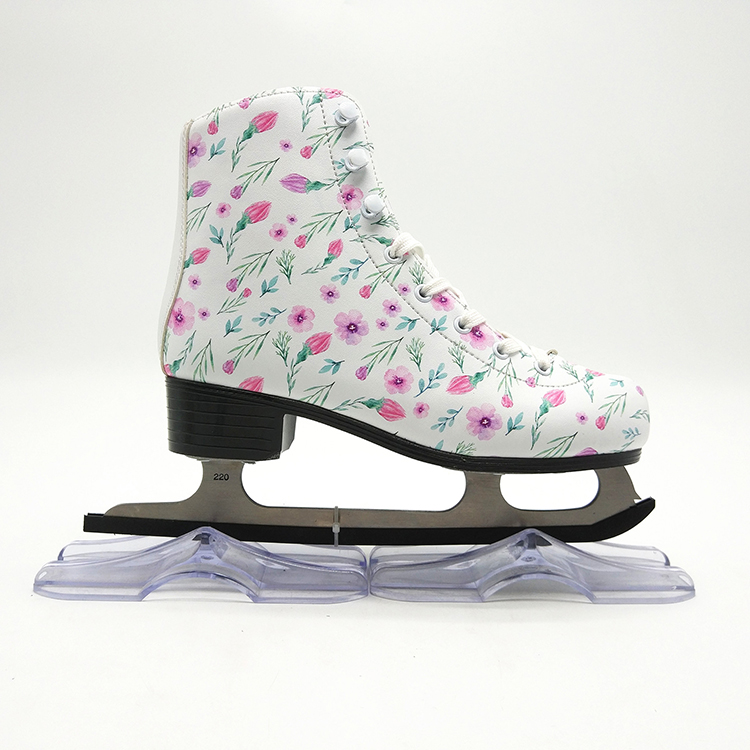Top quality new arrived fashion black color ice figure skates figure skating shoes for adults , teenagers and kids