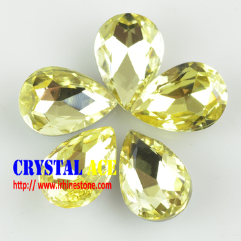 Best quality and price Crystal fancy stone, crystal beads, point back siver foiled back glass stone for clothing